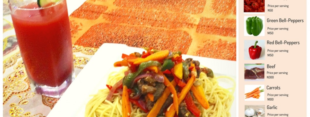 Spicy Stripped Beef Sauce with Spaghetti Recipe
