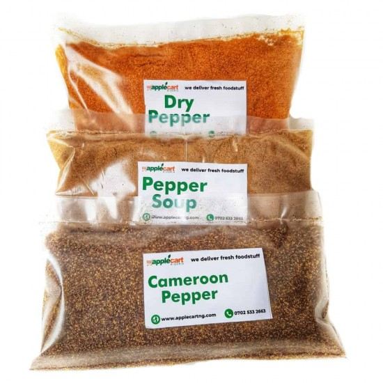 Pepper Mix: 3-in-One (Cameroon, peppersoup & dried pepper)